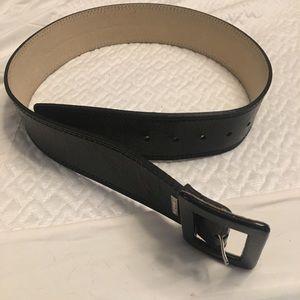 Medium black Calvin Klein belt leather